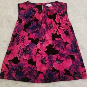 💘 {Calvin Klein} Pink Floral Blouse